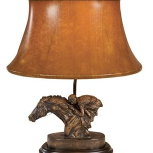 RACEHORSE AND JOCKEY LAMP