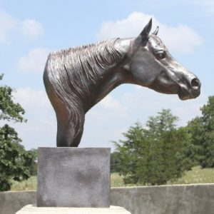 The Look Horse Head Sculpture