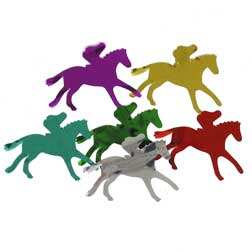 Racehorse and Jockey Confetti