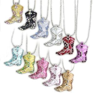 Cowgirl Boot Bling Necklace