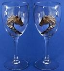 HORSE HEAD WINE GLASSES