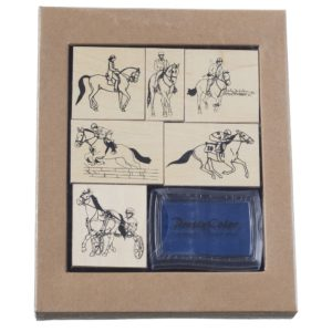 EQUESTRIAN STAMP SET