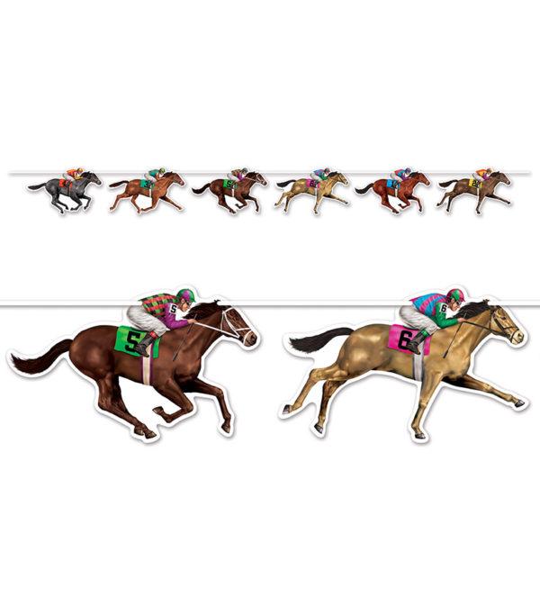 Racehorse and Jockey Party Streamer