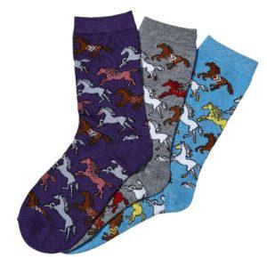 Southwest Ponies Crew Socks