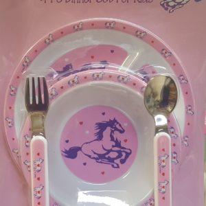 Kid Dinner Plate Set Pink