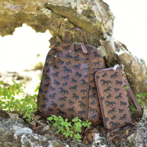 Galloping Horses Backpack and Zip Wallet