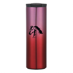 Horse Head Stainless Steel Travel Tumbler Red