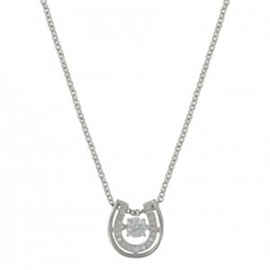 Sterling Silver Doule Horseshoe Necklace