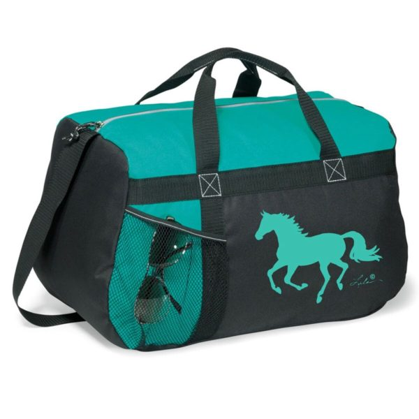 Galloping Horse Duffle Bag Turquoise