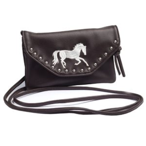 Embroidered Galloping Horse Purse