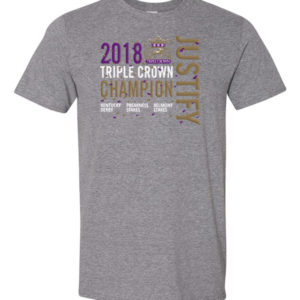 Justify Grey Triple Crown T-Shirt
