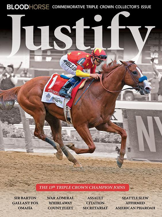 JUSTIFY COMMEMORATIVE BLOODHORSE BOOK