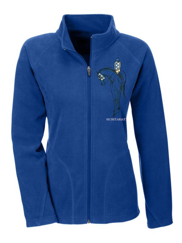Secretariat Fleece Zip Jacket Blue