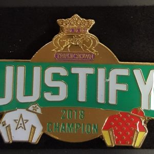 Justify Official Triple Crown Pin