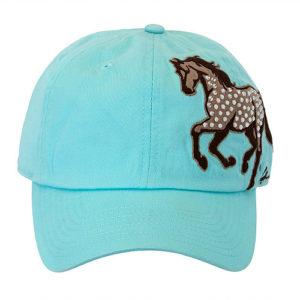 Rhinestone Galloping Horse Cap Mint