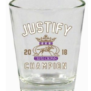 Justify Triple Crown Shot Glass