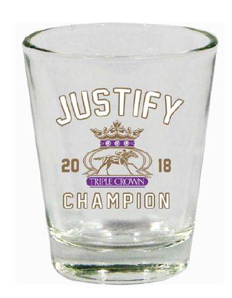 Justify Triple Crown Shot Glass
