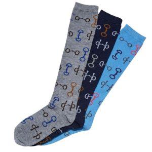 Ladies Snaffle Bit Knee Hi Socks