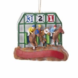 Horse Racing Ornament