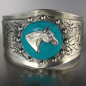 Horse Head Concho Cuff Bracelet