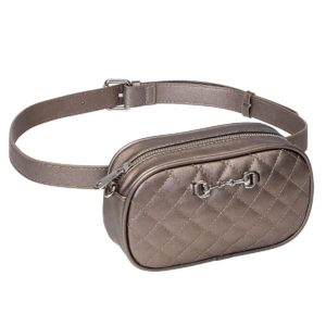 Quilted Snaffle Bit Waist Crossbody Purse