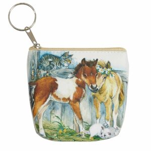 Horse Coin Purse 2 Foals/Kittens
