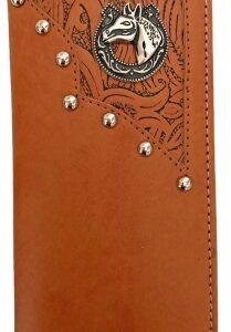 Western Checkbook Wallet Tan