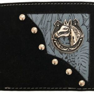 Western B-Fold Wallet Blue/Black