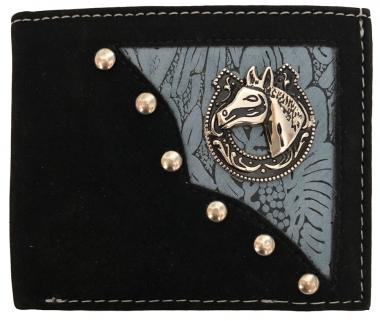 Western B-Fold Wallet Blue/Black