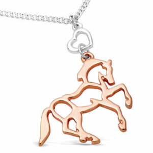 Rose Gold Horse Heart Necklace