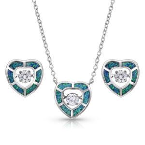 Heart Opal Jewelry Set