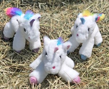 Unicorn Baby Rattle Plush