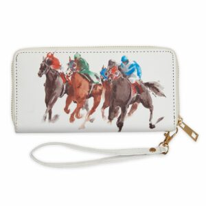 Horse Racing Zip Wallet