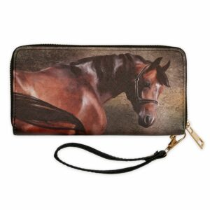 Bay Horse Zip Wallet