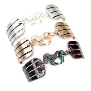 Wild Galloping Horse Bracelet