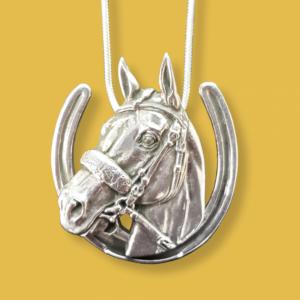 American Pharoah Horseshoe Necklace