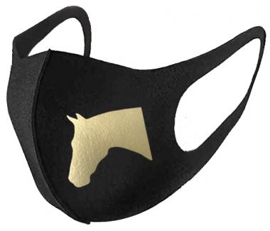 Horse Head Mask Gold