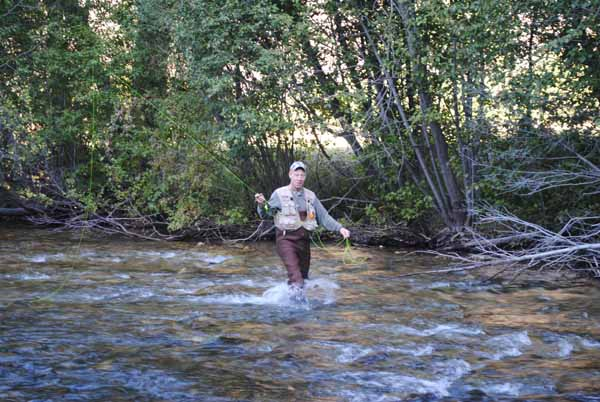 Fly fishing in the North Fork of the Salmon River
