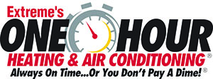 Extreme's One Hour Heating & Air Logo