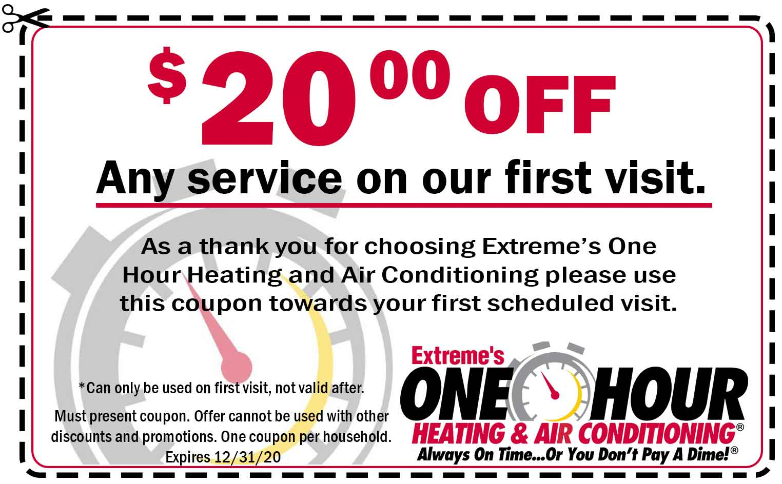 $20 off first-time customer