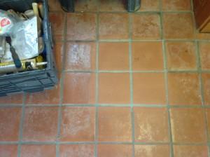 stripped terra cotta tile