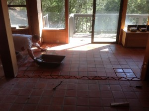 pavers grouted stained