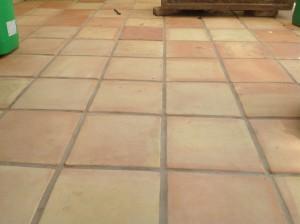 clean saltillo tiles raw