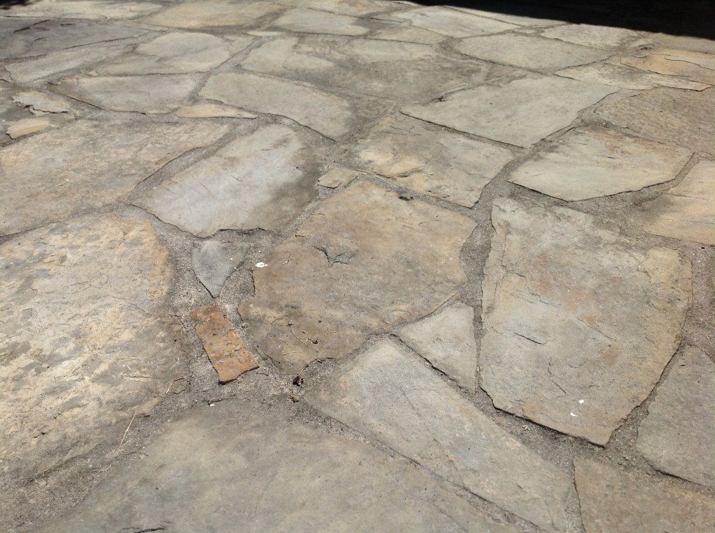 slate before cleaned