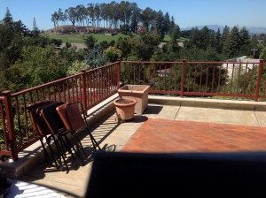terra cotta patio restored