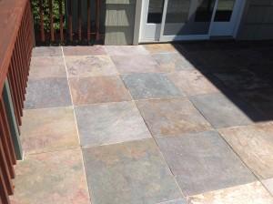 cleaned slate tile