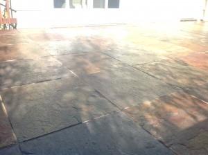 slate tiles sealed