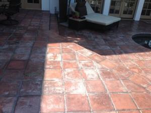 paver patio hazy