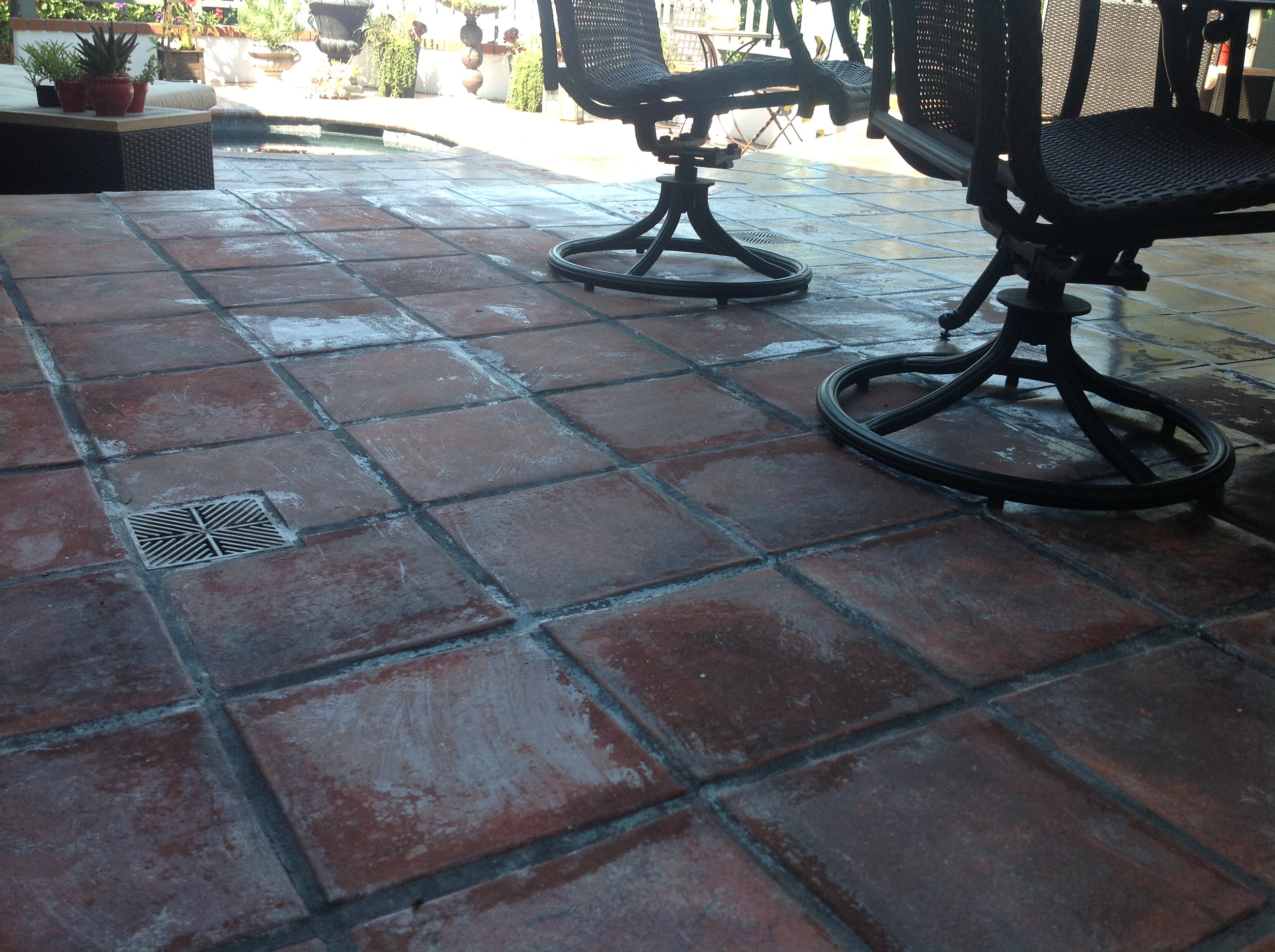 Mexican Paver Stripping   Failed Sealer