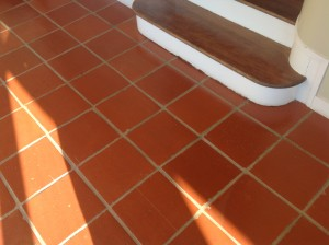 sealed paver stairs